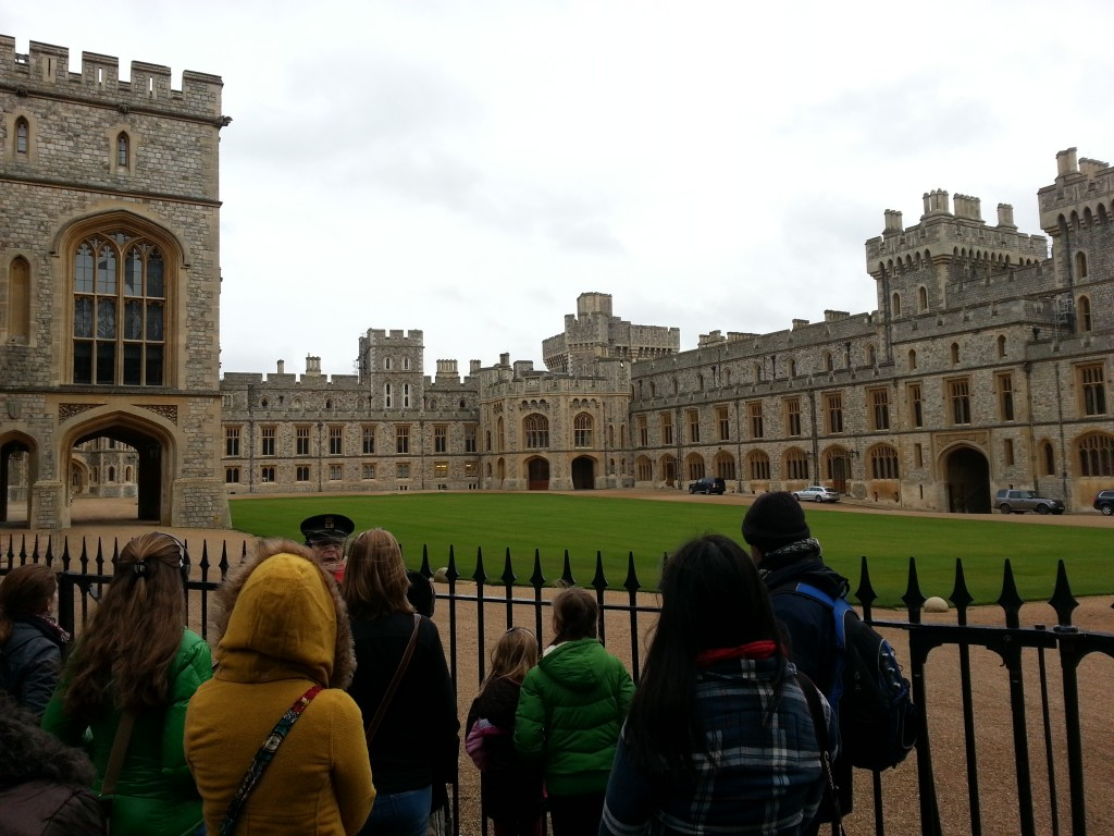 Part of the Windsor Castle, Rachael is in the yellow hood