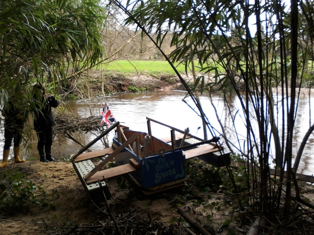 Revolution (a young people's discipleship program) had to hand-build two boats and race them down the river. This is one of them - The Gentle Breeze. Most of the campus turned up to watch these teams battle the freezing river, fast rapids, and cramped quarters. Brilliant!