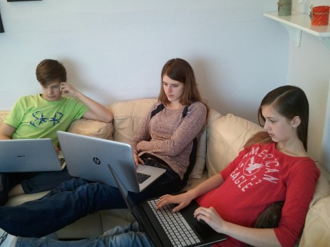Homeschooling and online classes. A great combo for our life here in England!